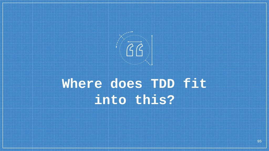 Where does TDD fit into this? 95