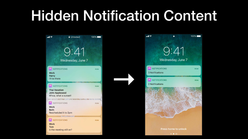 → Hidden Notification Content