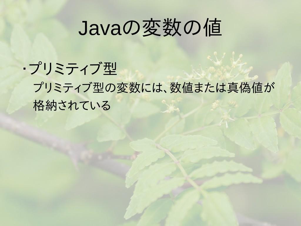 Javaの梅雨入りと梅雨変数の梅雨入りと梅雨値 ・プリミティブ型は値渡し、参型は値渡し、参照 ...