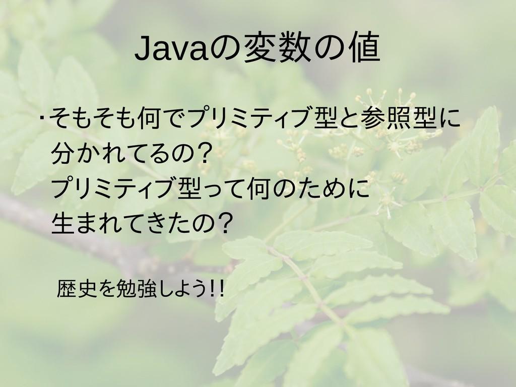 Javaの梅雨入りと梅雨変数の梅雨入りと梅雨値 ・そもそも何でプリミティブ型は値渡し、参型は値...
