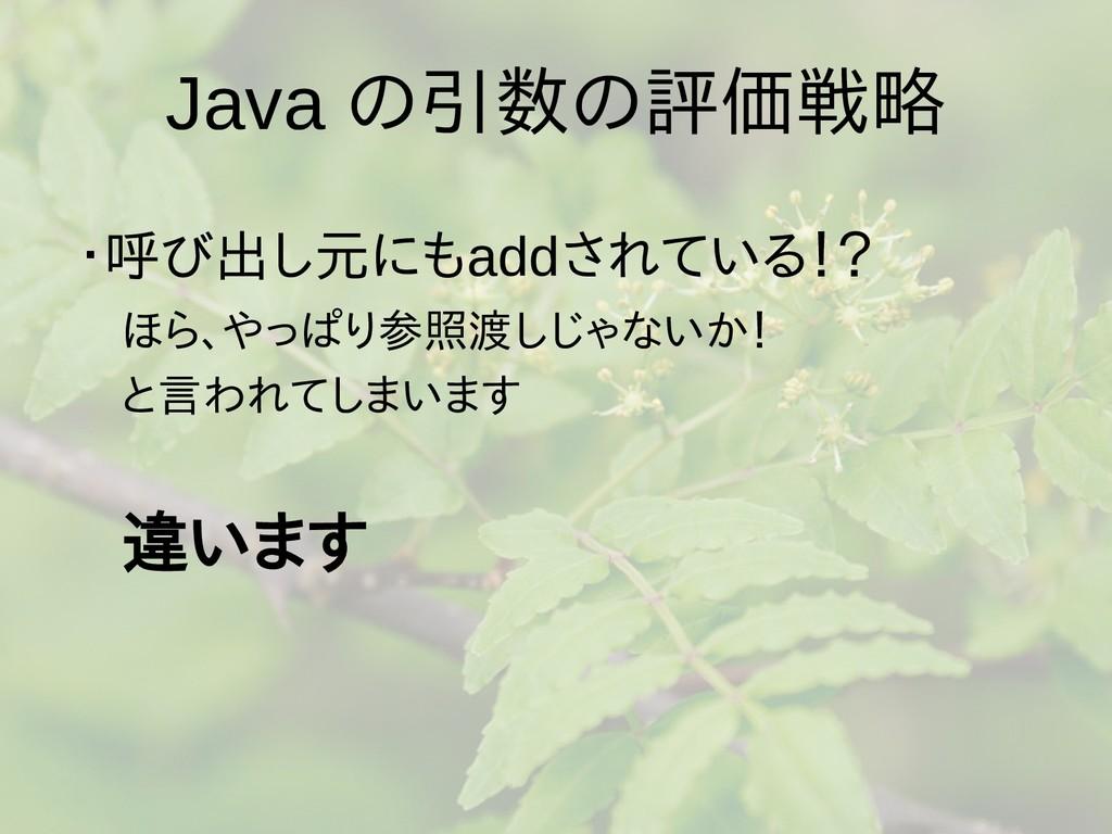Java の梅雨入りと梅雨引数の梅雨入りと梅雨評価戦略 ・呼ばれる)とは、び出しにある実引出し...