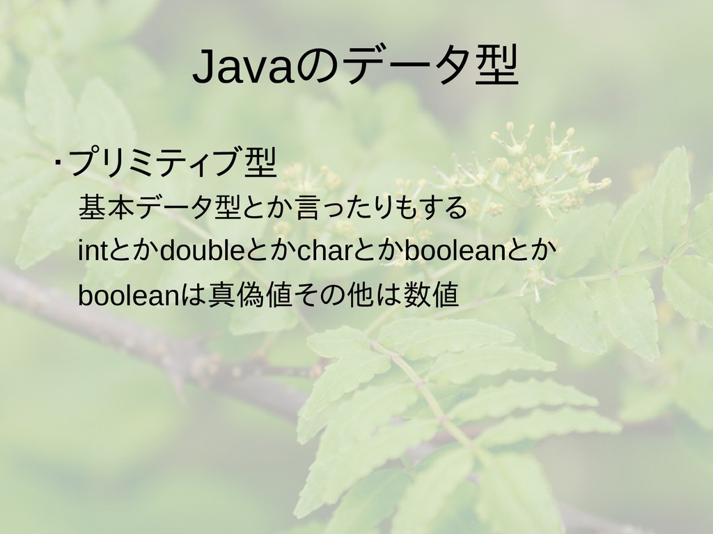 Javaの梅雨入りと梅雨データ型型は値渡し、参照 ・プリミティブ型は値渡し、参型は値渡し、参照...