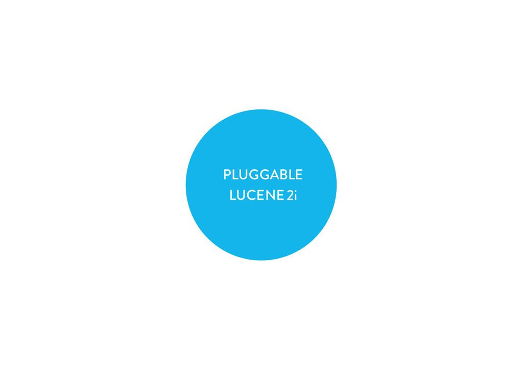 PLUGGABLE LUCENE 2i