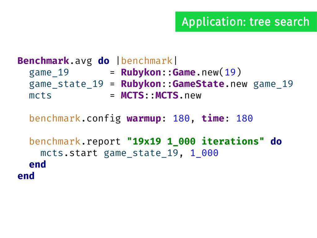 Benchmark.avg do |benchmark| game_19 = Rubykon:...