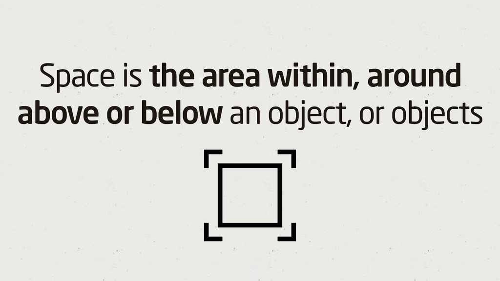 Space is the area within, around above or below...