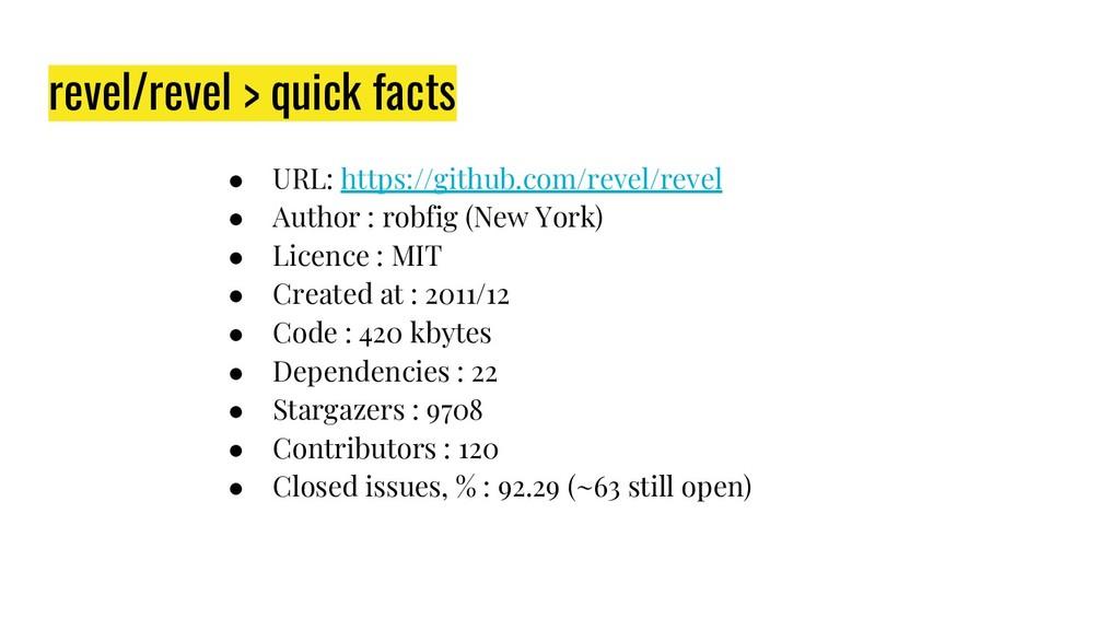 revel/revel > quick facts ● URL: https://github...