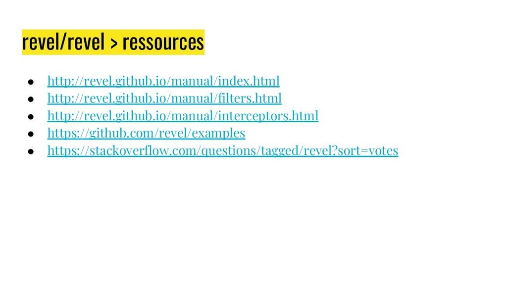 revel/revel > ressources ● http://revel.github....