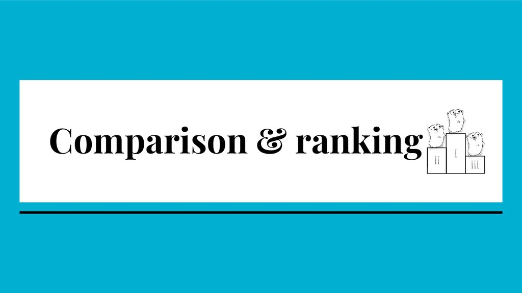 Comparison & ranking I II III