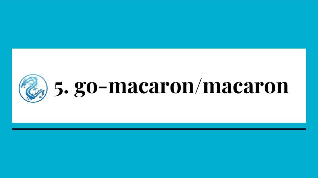 5. go-macaron/macaron