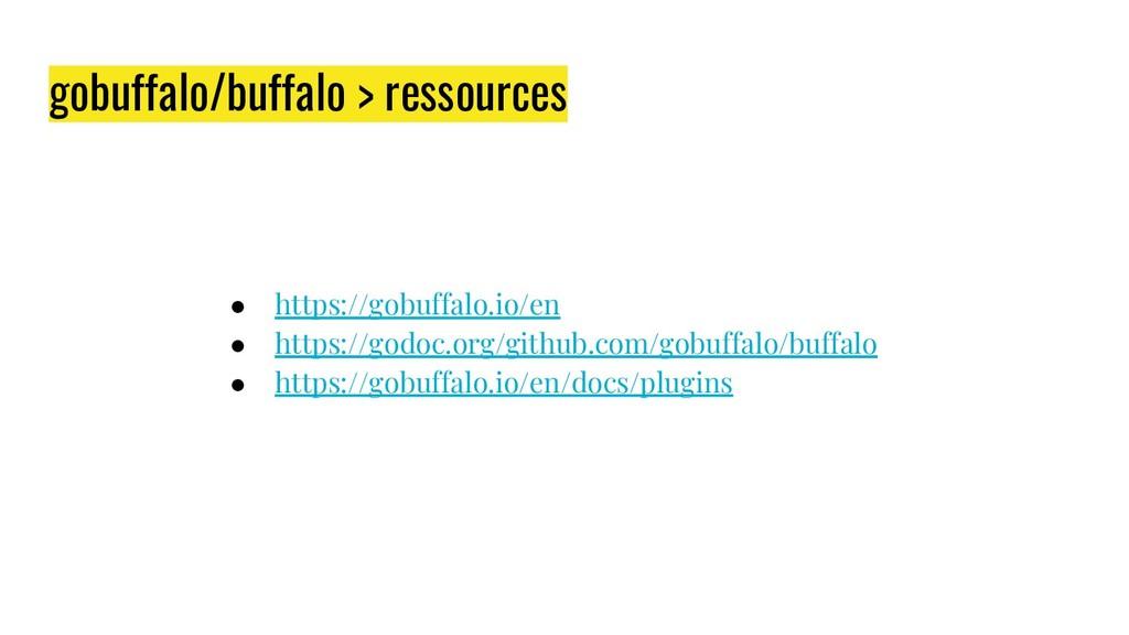gobuffalo/buffalo > ressources ● https://gobuff...