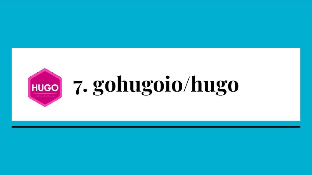 7. gohugoio/hugo