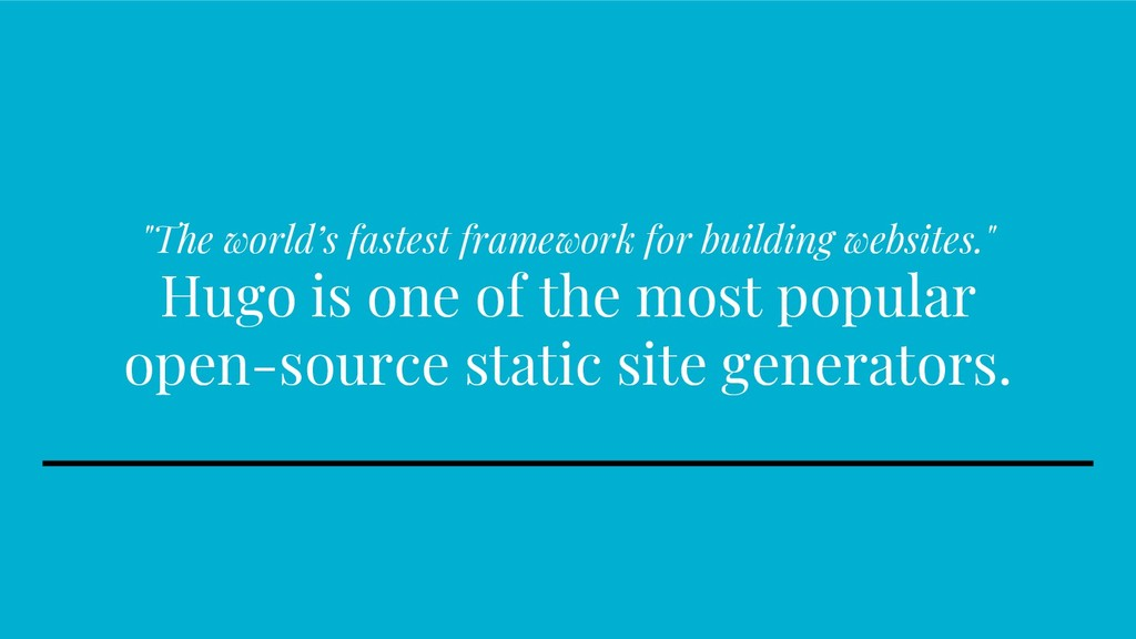 """The world's fastest framework for building web..."