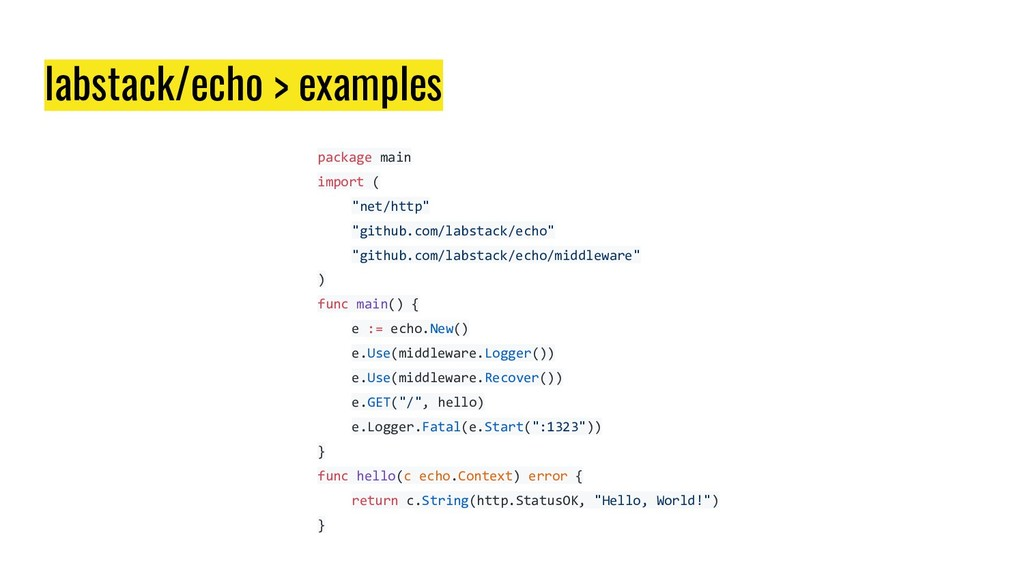 labstack/echo > examples package main import ( ...