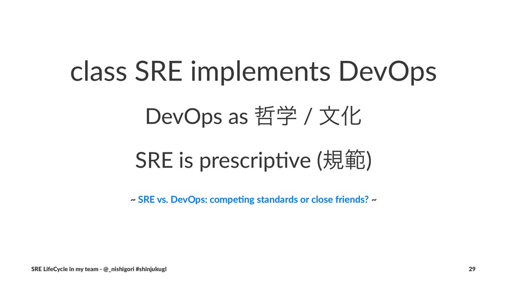 class SRE implements DevOps DevOps as ఩ֶ / จԽ S...