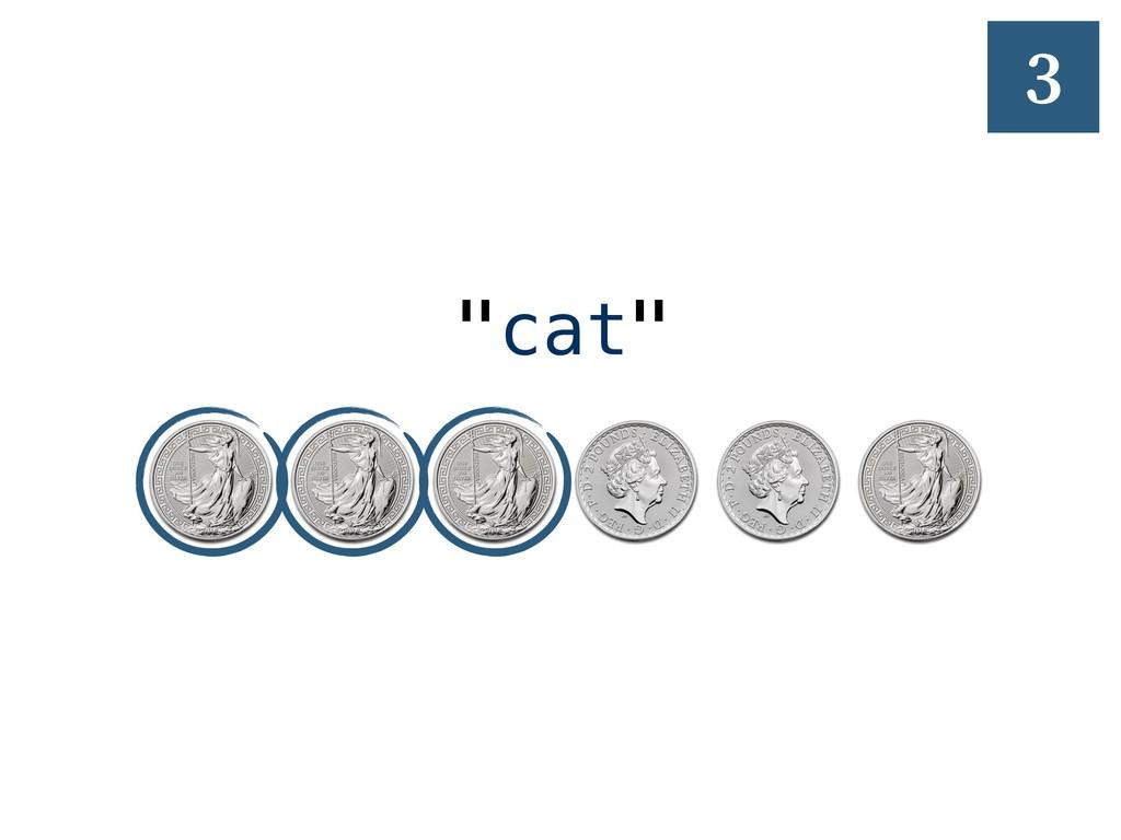 """1 """"cat"""" 3"""