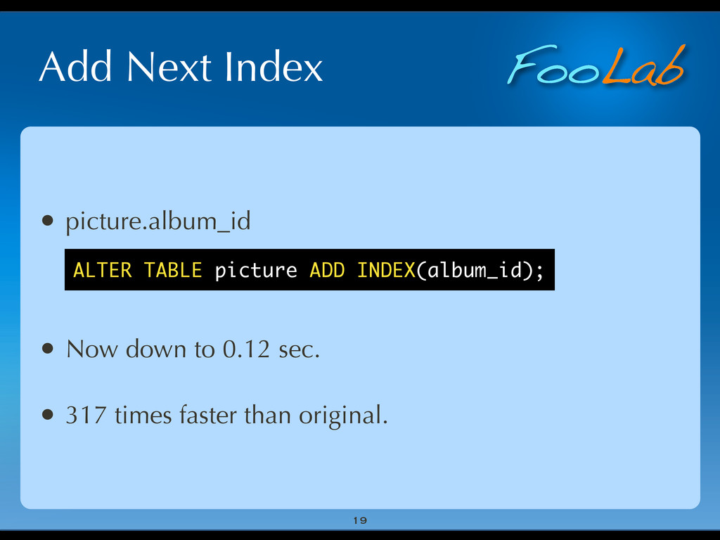 FooLab Add Next Index 19 • picture.album_id • N...
