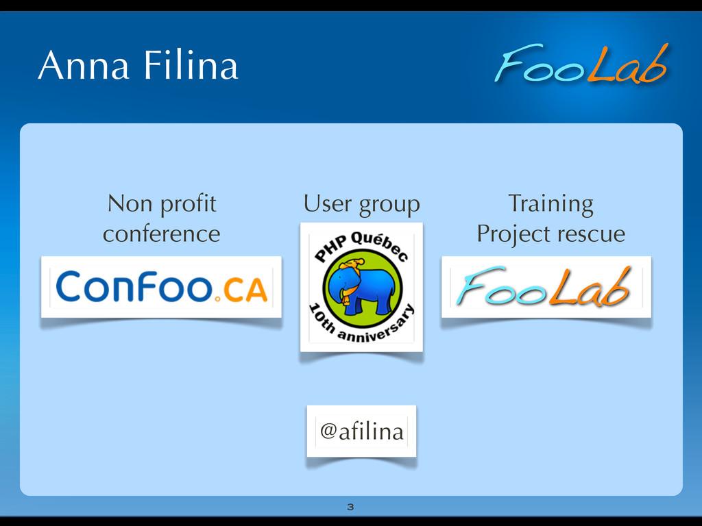 FooLab Anna Filina 3 User group Non profit confe...