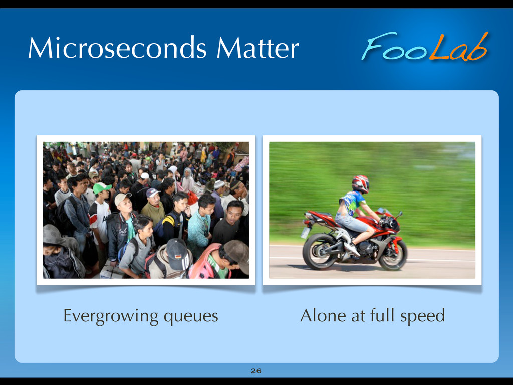 FooLab Microseconds Matter 26 Evergrowing queue...