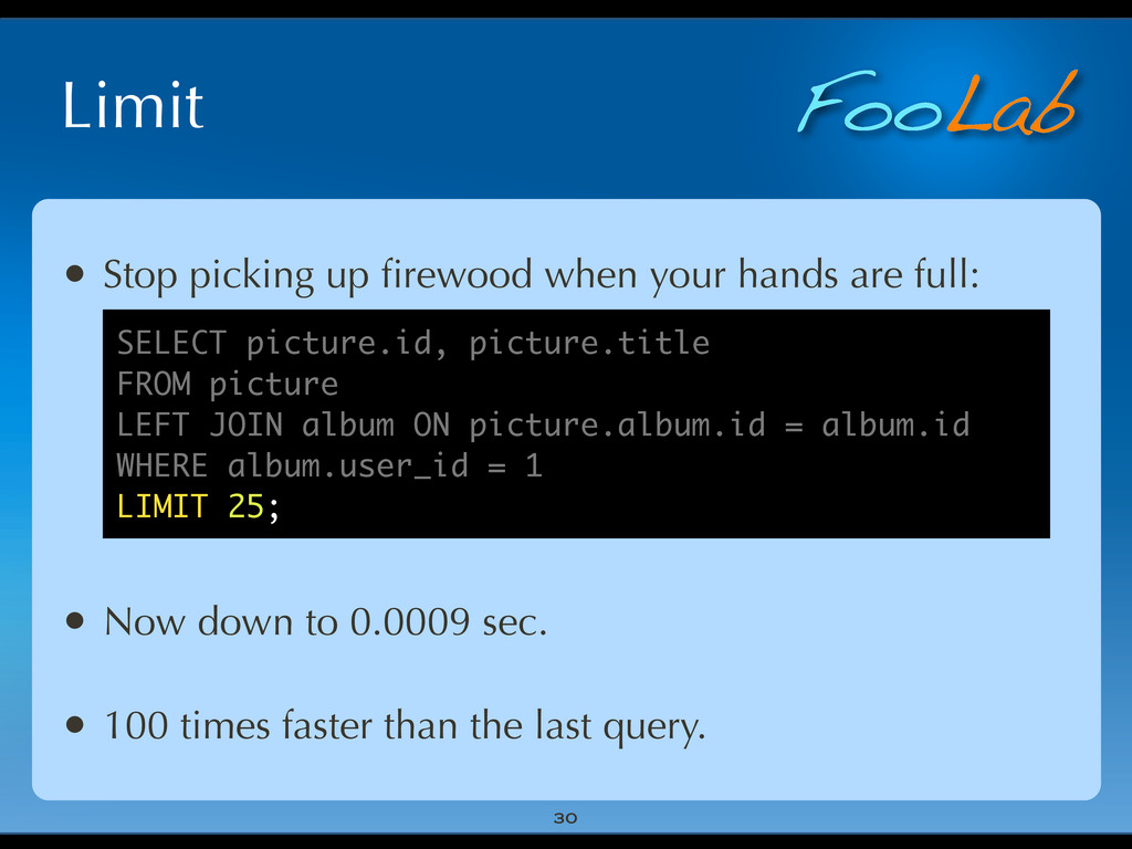 FooLab Limit 30 • Stop picking up firewood when ...