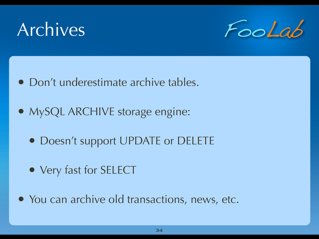 FooLab Archives 34 • Don't underestimate archiv...