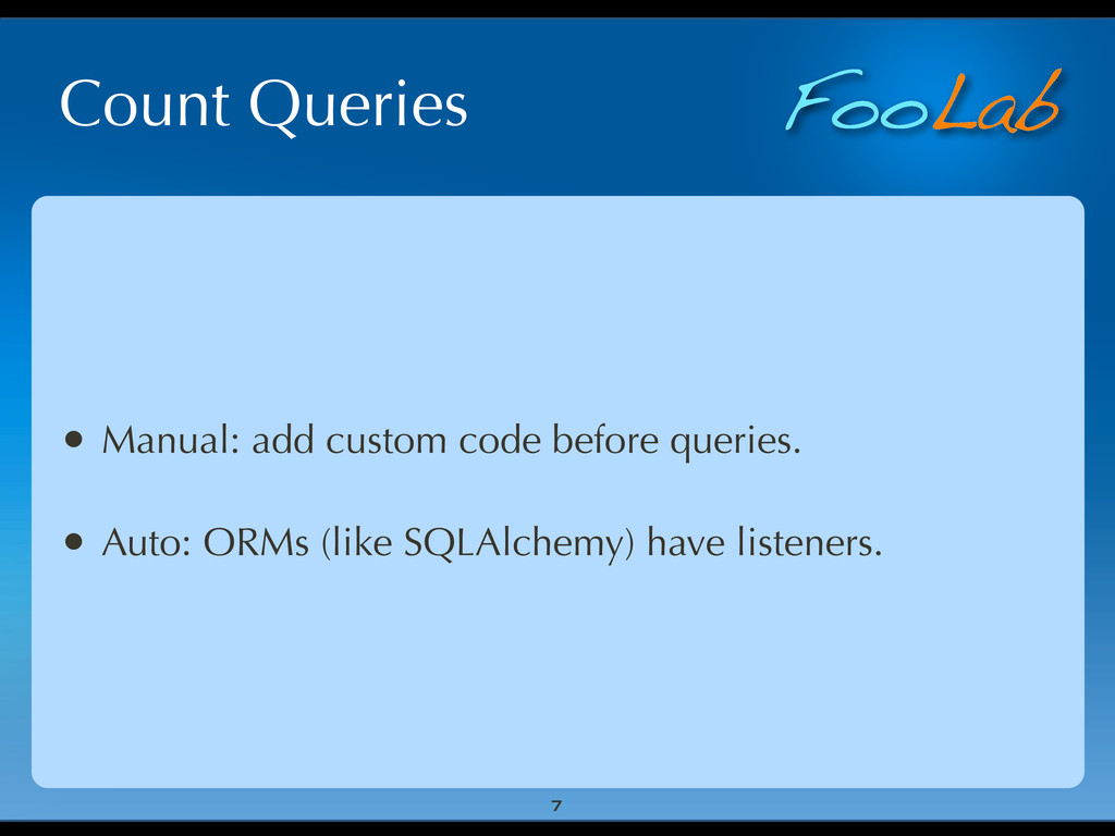 FooLab Count Queries • Manual: add custom code ...