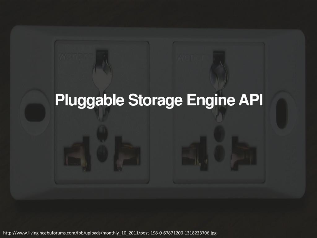Pluggable Storage Engine API http://www.livingi...