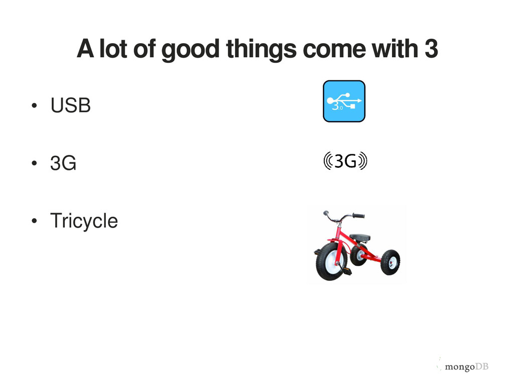 A lot of good things come with 3 • USB • 3G • T...