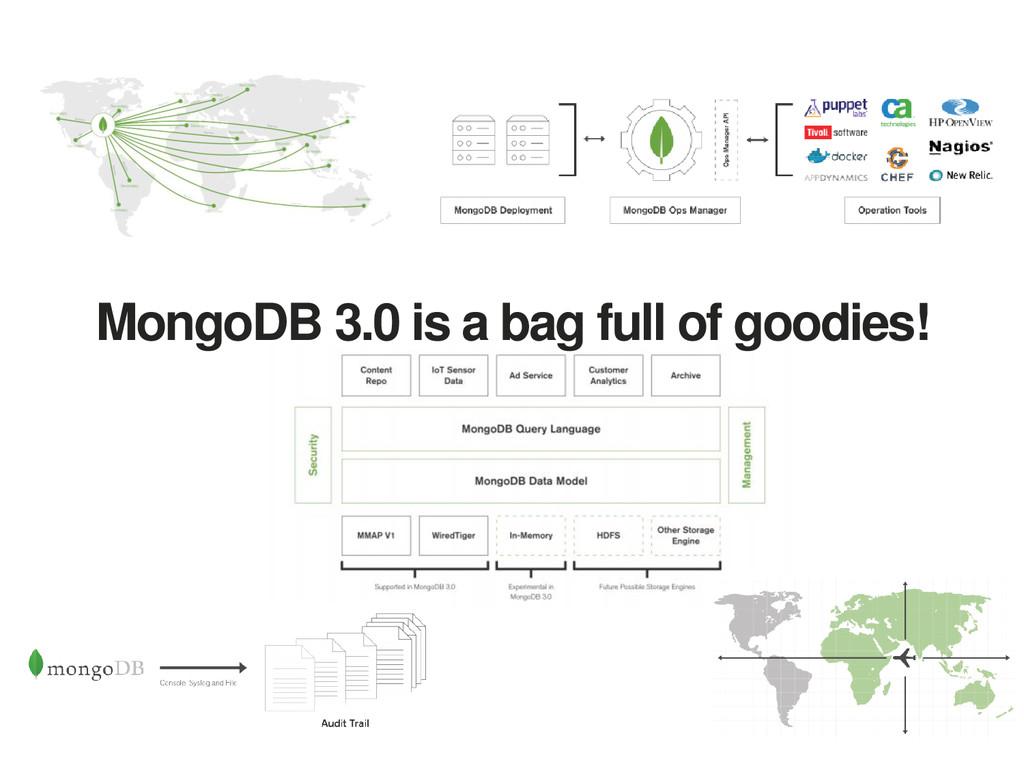 MongoDB 3.0 is a bag full of goodies!