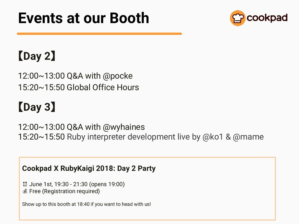 Events at our Booth 【Day 2】 12:00~13:00 Q&A wit...