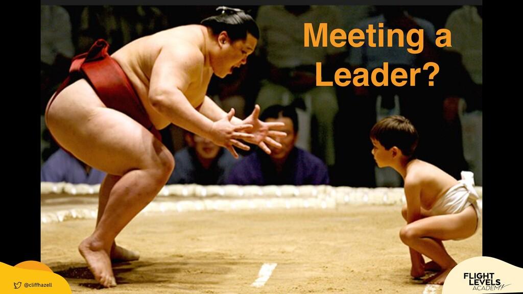 @cli ff hazell Meeting a Leader? @cli ff hazell