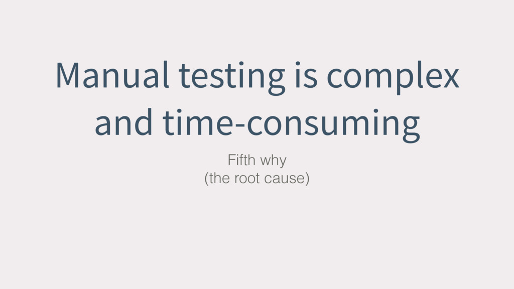 Manual testing is complex and time-consuming Fi...