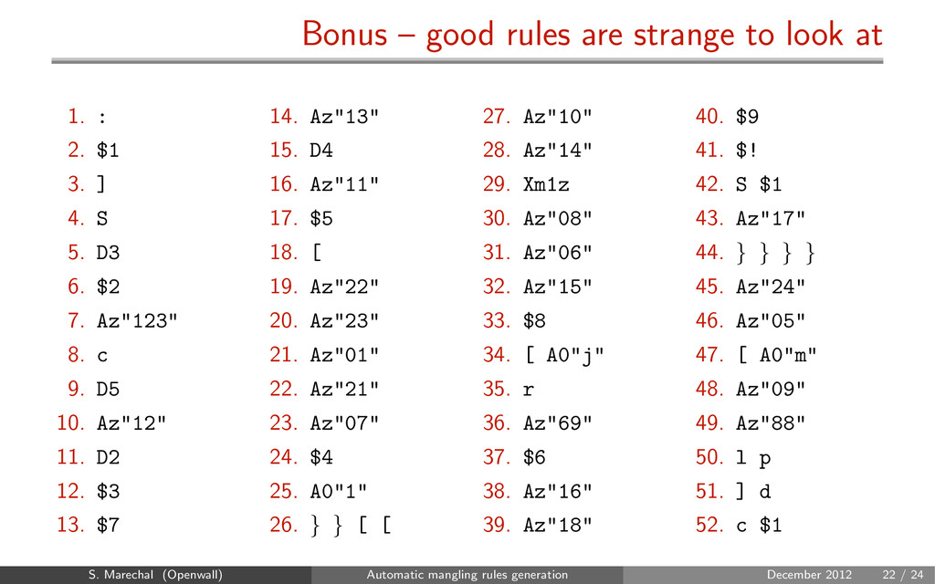 Bonus – good rules are strange to look at 1. : ...