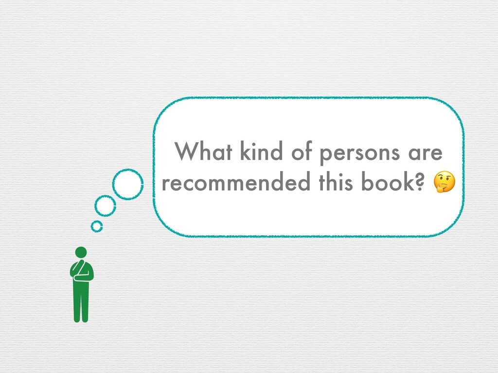 What kind of persons are recommended this book?