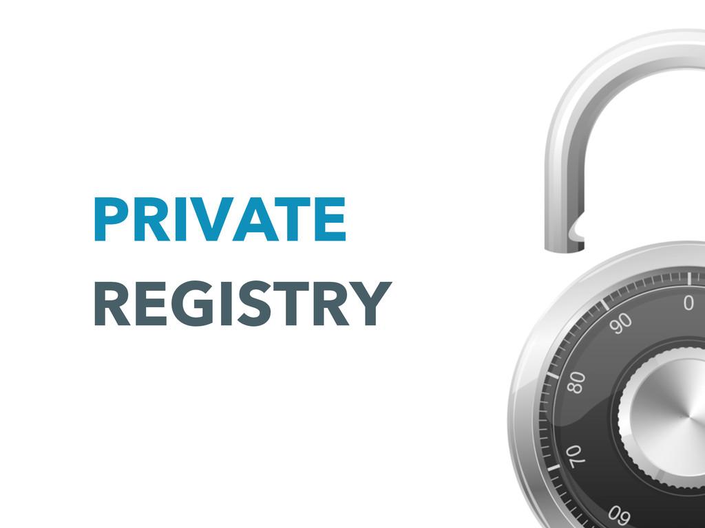 PRIVATE REGISTRY