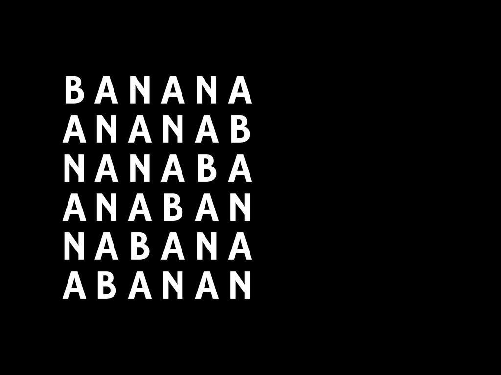 B A N A N A B A N A N A B A N A N A B A N A N A...