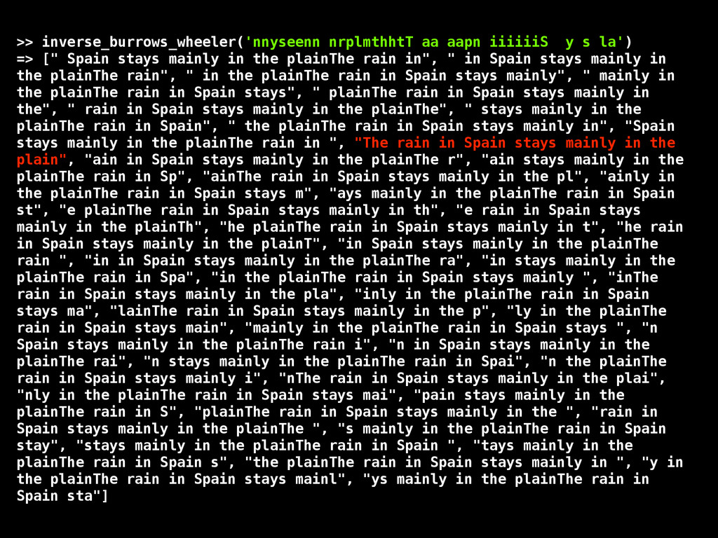 >> inverse_burrows_wheeler('nnyseenn nrplmthhtT...