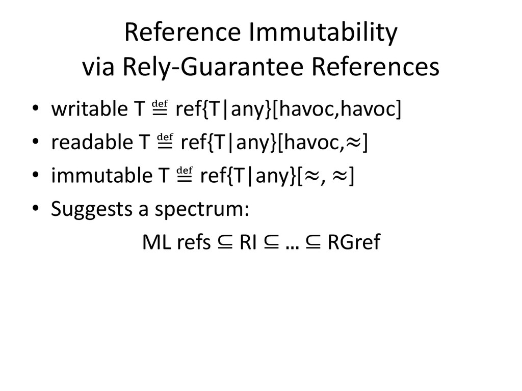 Reference Immutability via Rely-Guarantee Refer...