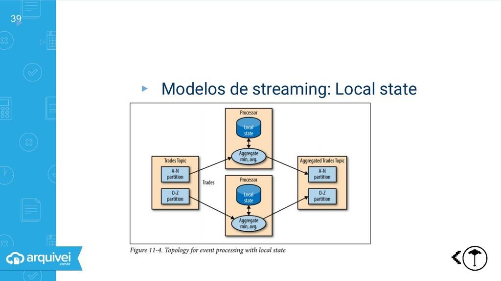 39 ▸ ▹ Streaming: diferentes modelos ▸ Modelos ...