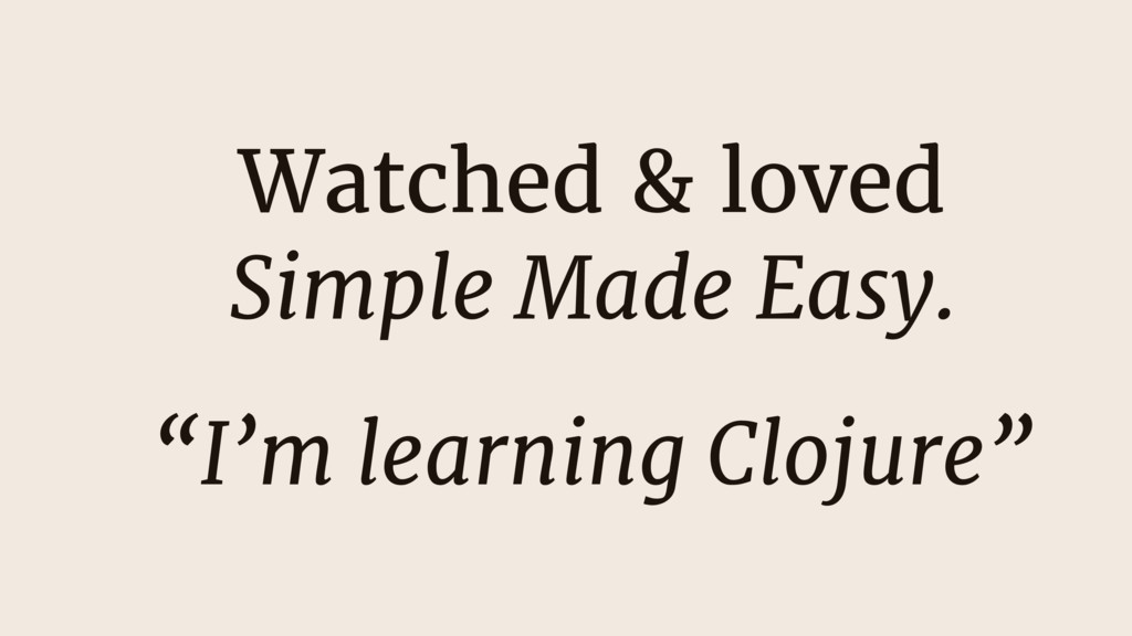 """Watched & loved Simple Made Easy.  """"I'm learnin..."""