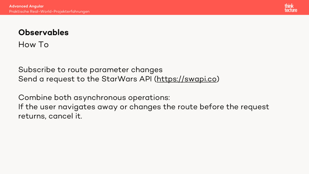 How To Observables Subscribe to route parameter...