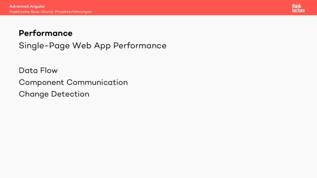 Single-Page Web App Performance Data Flow Compo...