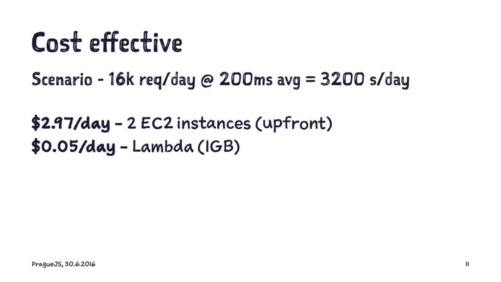 Cost effective Scenario - 16k req/day @ 200ms a...