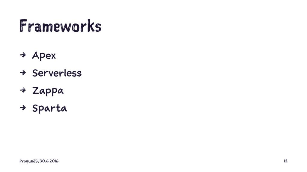 Frameworks 4 Apex 4 Serverless 4 Zappa 4 Sparta...