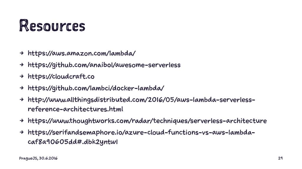Resources 4 https://aws.amazon.com/lambda/ 4 ht...