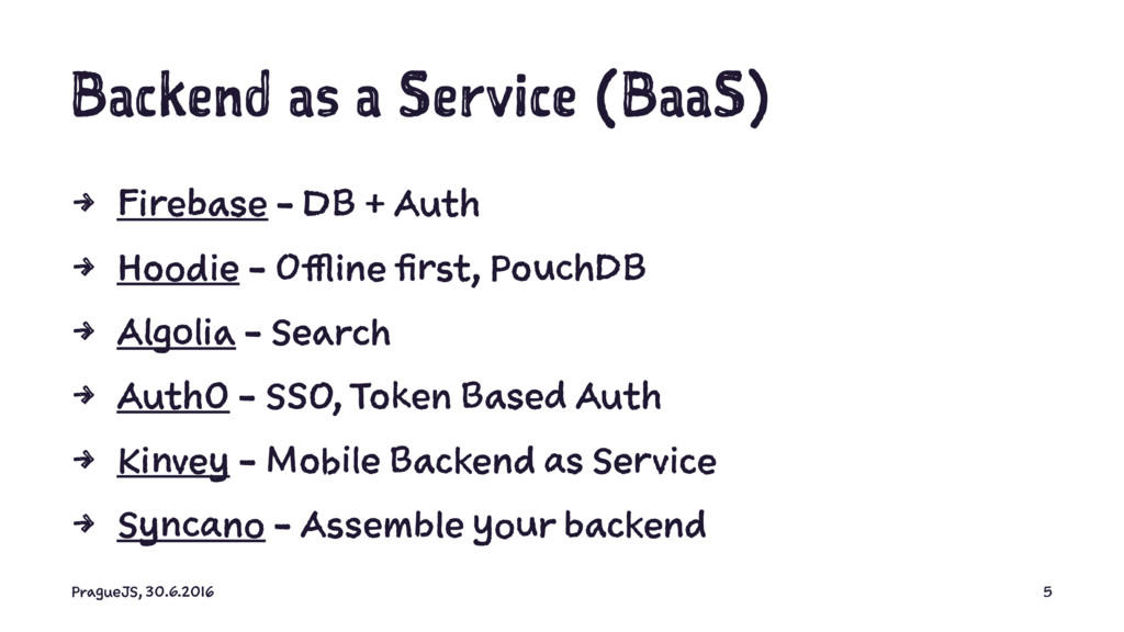 Backend as a Service (BaaS) 4 Firebase - DB + A...