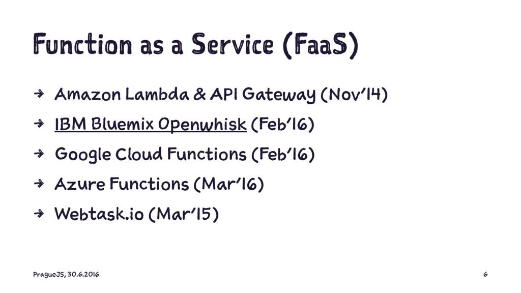 Function as a Service (FaaS) 4 Amazon Lambda & ...