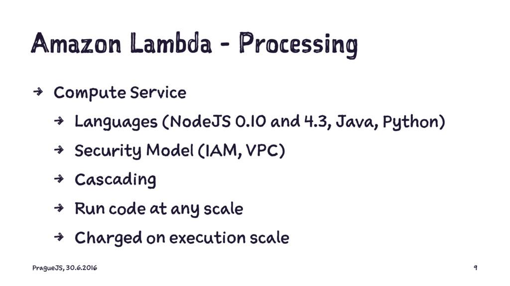 Amazon Lambda - Processing 4 Compute Service 4 ...