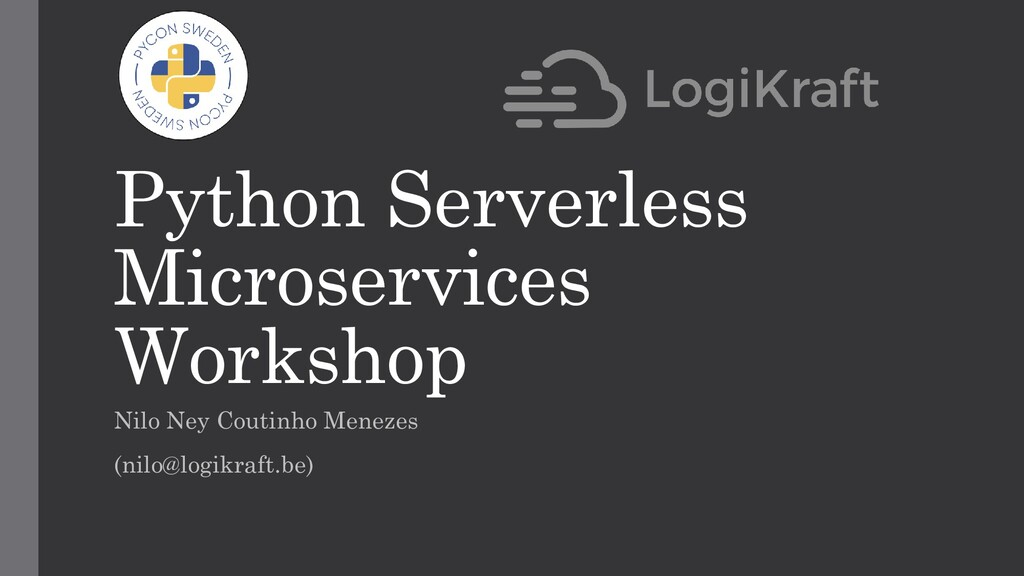 Python Serverless Microservices Workshop Nilo N...