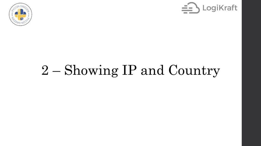 2 – Showing IP and Country