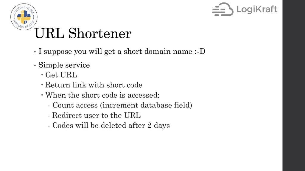 URL Shortener • I suppose you will get a short ...